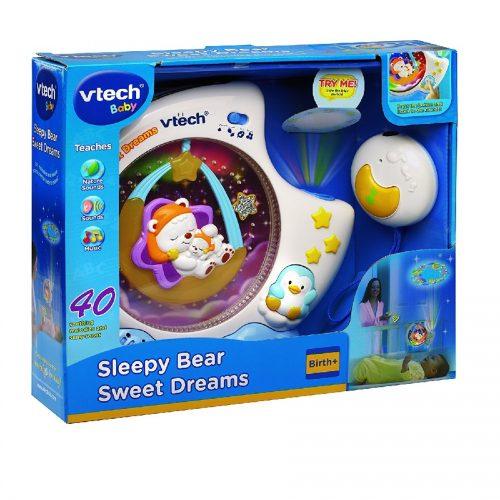 چراغ خواب کودک موزیکال آبی Vtech, Sleepy Bear Sweet Dreams