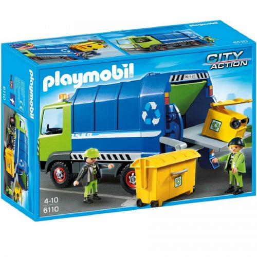 6110,Playmobil,recycling truck,پلی موبیل، ماشین، حمل زباله