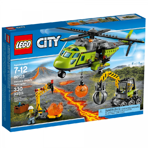 لگو 60123 Lego,City,Volcano Supply Helicopter