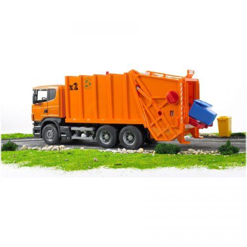 ماشین حمل زباله نارنجی Bruder, Scaniaو03565