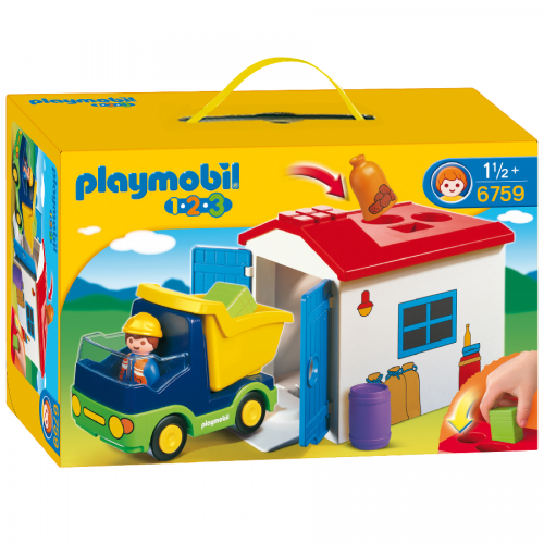 کامیون زباله 6759 پلی موبیل Playmobil,Truck with Garage