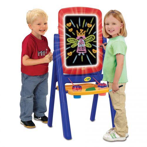 تخته نقاشی دو طرفه نورانی و گچی کودک 5044 Crayola, Qwikflip 2-Sided Glow Easel