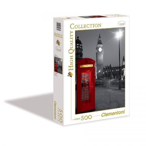 پازل 500 تکه 30263 Clementoni, London Phone box
