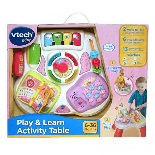 میز فعالیت صورتی VTech,Learn activity table