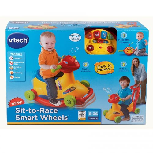 چهار چرخه و راکر کد 138600 Vtech, Sit-to-Race Smart Wheels
