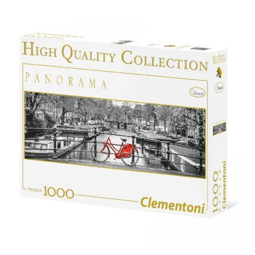 پازل 1000 تکه پانوراما 39386 Clementoni, Amsterda Bycicle