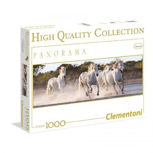پازل 1000 تکه پانوراما 39371 Clementoni, Running horses