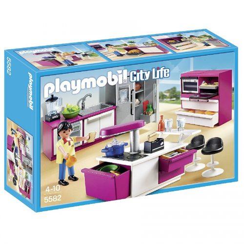 آشپزخانه مدرن پلی موبیل Playmobil,Modern Designer Kitchen،5582