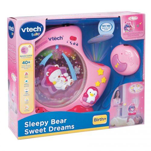 چراغ خواب کودک موزیکال صورتی Vtech, Sleepy Bear Sweet Dreams