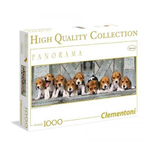 پازل 1000 تکه پانوراما 39076 Clementoni, Beagles